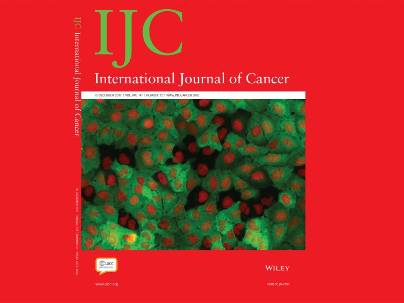 CBMR research highlighted on the cover of International Journal of Cancer
